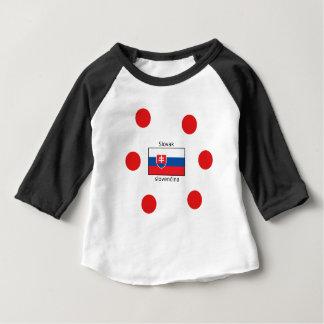 Het Slowaakse Taal en Ontwerp van de Vlag van Baby T Shirts