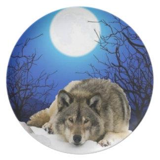 Het sluimeren wolfsbord melamine+bord