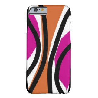 Het smakelijke Roze/het sinaasappel van Golven Barely There iPhone 6 Hoesje
