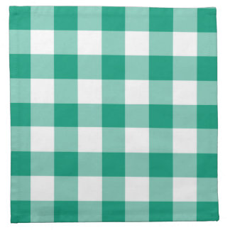 Het smaragdgroene en Witte Patroon van de Servet