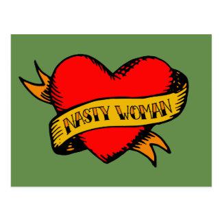 Het smerige Tattoo van de Vrouw Briefkaart