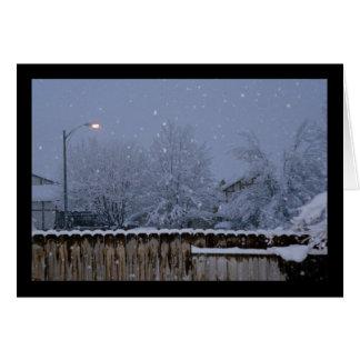 Het sneeuw Lied van de Avond van Sol. Het Kaart