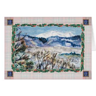 Het sneeuw Wenskaart van Kerstmis van Colorado
