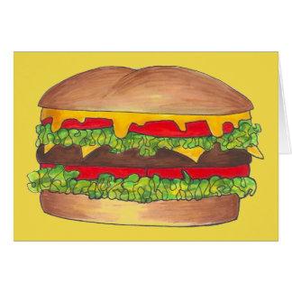 Het Snelle Voedsel van de Cheeseburger van de Briefkaarten 0