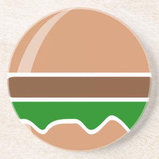 Het snelle voedsel van de hamburger een sandwich zandsteen onderzetter