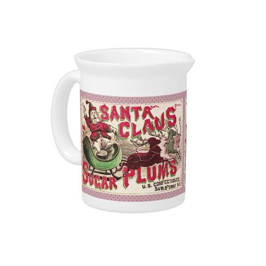 Het Snoep van de Pruim van de Suiker van Kerstmis  Drink Pitcher