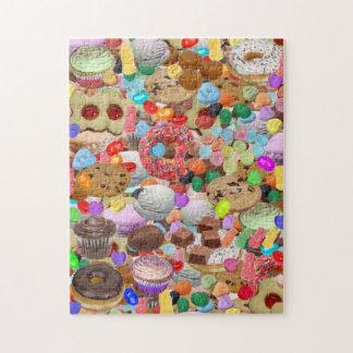 Het snoepje behandelt foto puzzels