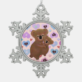 Het snoezige Ornament van de Sneeuwvlok van Koala'