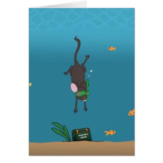 Het snorkelen Muis Briefkaarten 0