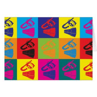 Het snorkelen Pop-art Briefkaarten 0
