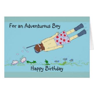Het snorkelen Verjaardag Briefkaarten 0
