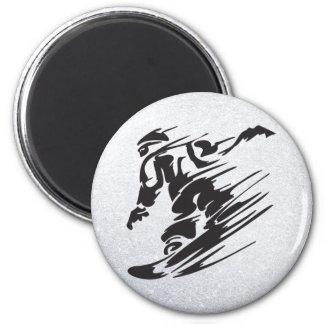 het snowboarding magneet
