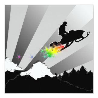 het snowmobiling: de sleep van het regenboogpoeder kaart