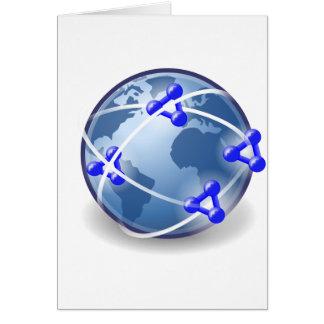 Het Sociale Netwerk van de wereld Briefkaarten 0
