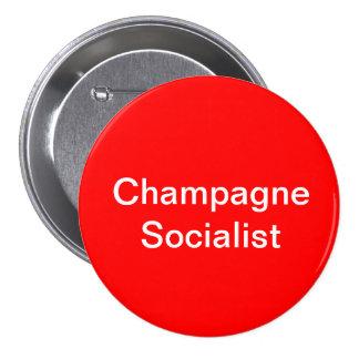 Het Socialistische Kenteken van Champagne Ronde Button 7,6 Cm