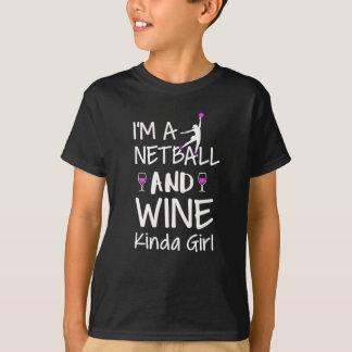 Het soort van het netball en van de wijn meisje t shirt