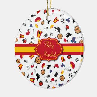 Het Spaanse Ornament van Feliz Navidad van de Vlag