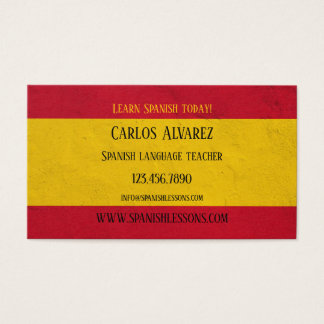 Het Spaanse Visitekaartje van de Leraar van de Visitekaartjes