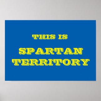 Het Spartaanse Poster van het Grondgebied