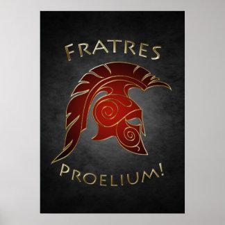 Het Spartaanse Rode Poster van de Strijder van de