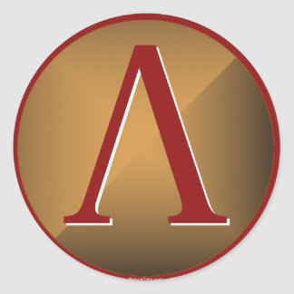 Het Spartaanse Schild van Lambda Ronde Sticker