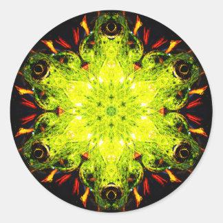 Het speciale Effect Mandala van de Kikker Ronde Sticker