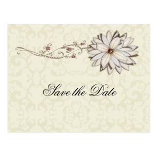 Het speciale Elegante BloemenOntwerp van de Briefkaart