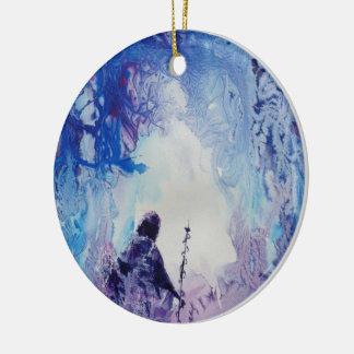 © Het Speciale lichte spirituele landschap van P Rond Keramisch Ornament