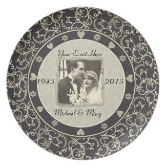 Het speciale Lijst van de Foto van het Huwelijk va Melamine+bord