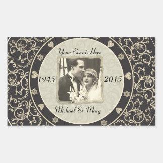 Het speciale Lijst van de Foto van het Huwelijk va Rechthoekige Sticker