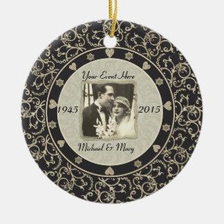 Het speciale Lijst van de Foto van het Huwelijk va Rond Keramisch Ornament