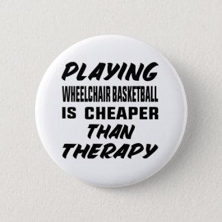 Het speel basketbal van de Rolstoel is goedkoper Ronde Button 5,7 Cm