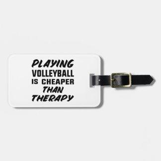 Het speel Volleyball is goedkoper dan therapie Kofferlabel