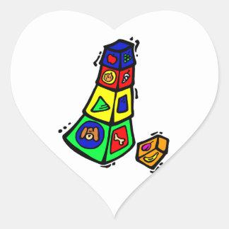 het speelgoed grafische vierkante dieren van het hartvormige stickers