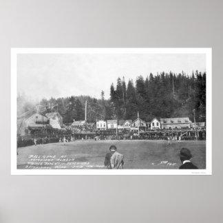 Het Spel 1916 van het Honkbal van Ketchikan Poster