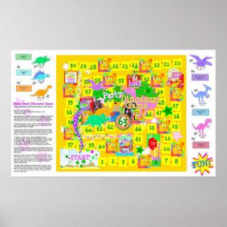 Het Spel van de Dinosaurussen van de Partij van de Poster