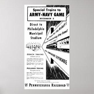 Het Spel van de marine van het leger via de Poster
