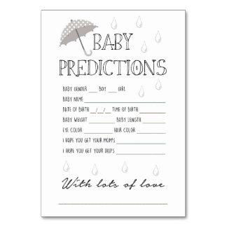 Het Spel van de Voorspellingen van het baby voor Kaart