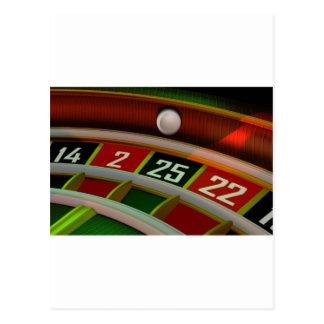 Het Spel van het Casino van Rulet van de roulette Briefkaart