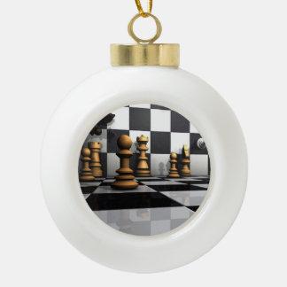 Het Spel van het Schaak van de koning Keramische Bal Ornament