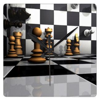 Het Spel van het Schaak van de koning Vierkante Klok