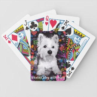 Het spel van Westies met hartspeelkaarten Pak Kaarten