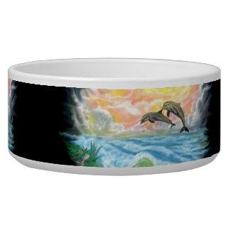 Het spelen Dolfijnen in de Zonneschijn Voerbakje