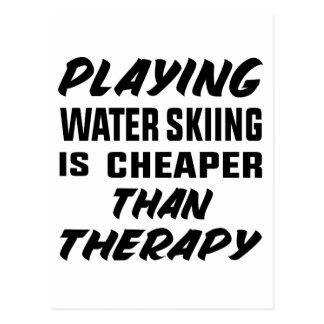 Het spelen het Water die is goedkoper dan therapie Briefkaart