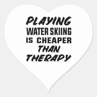 Het spelen het Water die is goedkoper dan therapie Hart Sticker