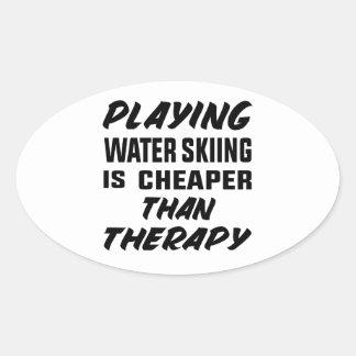 Het spelen het Water die is goedkoper dan therapie Ovale Sticker