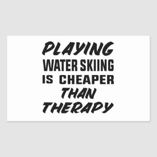 Het spelen het Water die is goedkoper dan therapie Rechthoekige Sticker