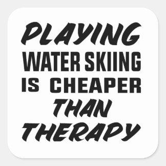 Het spelen het Water die is goedkoper dan therapie Vierkante Sticker
