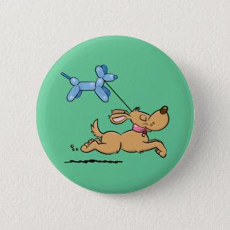 Het spelen Hond Ronde Button 5,7 Cm