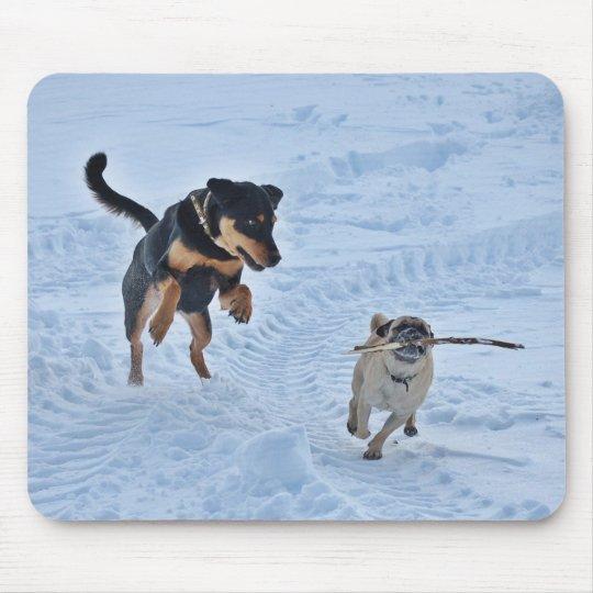 Het spelen in de Sneeuw Muismat